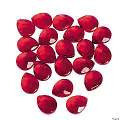 Garnet Briolette Faceted Beads - 15mm