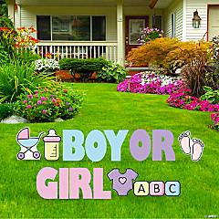 Gender Reveal Yard Sign Kit