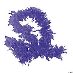 Genuine Purple Feather Neon Boas