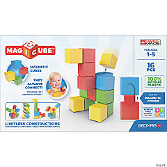 Geomag™ Magicubes Full Color Try Me Recycled, 16 Pieces