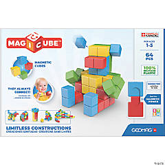 Geomag™ Magicubes Full Color Try Me Recycled, 64 Pieces