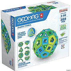 Geomag™ MASTERBOX Panels Cold Colors Recycled, 388 Pieces