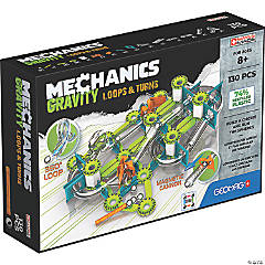 Geomag™ Mechanics Gravity Loops & Turns Recycled, 130 Pieces