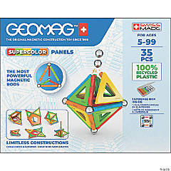 Geomag™ Supercolor Recycled, 35 Pieces