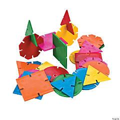 Geometric Connecting Shapes Building Blocks Set