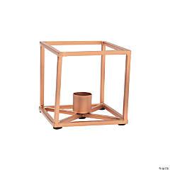 Geometric Copper Taper Candle Holder