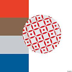 Geometric Dessert Paper Plates