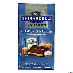 Ghirardelli Chocolate Squares Dark & Sea Salt Caramel 5.32 oz. Bag, 3 Pack
