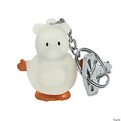 Ghost Bear Keychains