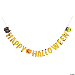 Ghoul Gang Banner Happy Halloween Decoration