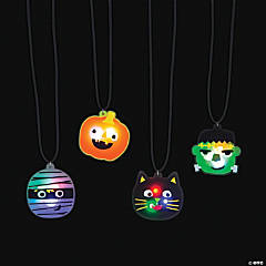 Ghoul Gang Light-Up Necklaces - 12 Pc.