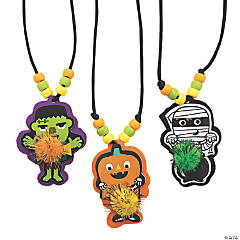 Ghoul Gang Pom-Pom Necklace Craft Kit