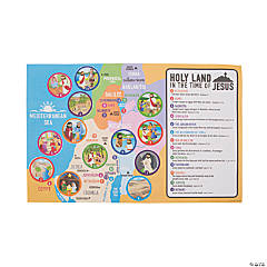 Giant Bible Map Sticker Scenes
