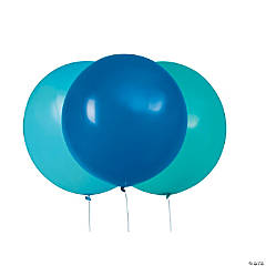 Giant Blue & Teal Latex Balloons