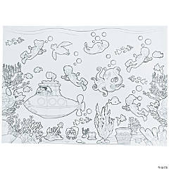 Giant Color Your Own Sealife Mat