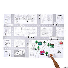 Giant Community Helpers Coloring Mat