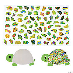 Giant Mosaic Turtle-Shaped Sticker Scenes