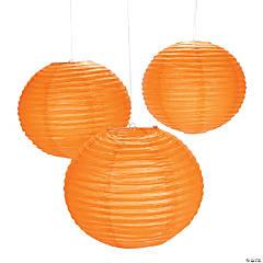 Giant Orange Pumpkin Purée Hanging Paper Lanterns