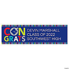 Giant Personalized Bright Graduation Banner