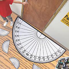 Giant Protractor Floor Cling & Class Set
