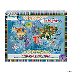 Gibby & Libby™ World Map Floor Puzzle