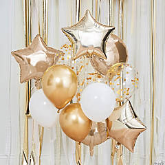 Ginger Ray Gold & White Mixed Balloon Pack