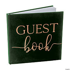 Ginger Ray Green Velvet Guest Book
