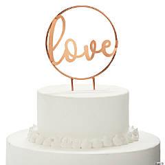 Ginger Ray Hoop Love Script Cake Topper