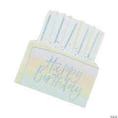 Ginger Ray Pastel Iridescent Birthday Cake Napkins