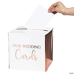 Ginger Ray Rose Gold Foil Wedding Card Box