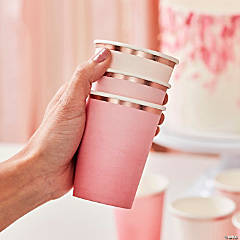 Ginger Ray Rose Gold Pink Ombre Paper Cups