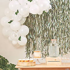 Ginger Ray White Balloon Arch with Eucalyptus Sprigs
