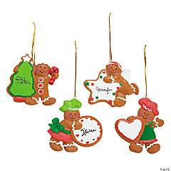 gingerbread characters with cookie christmas ornaments - Cheap Christmas Ornaments