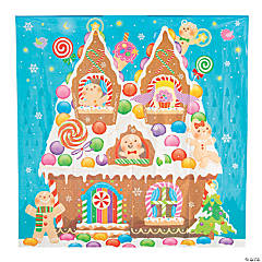 Gingerbread House Backdrop Banner