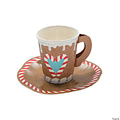 Gingerbread Paper Cups with Handle & Saucer