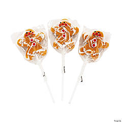 Gingerbread Swirl Lollipops