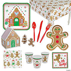 Gingerbread Tableware Kit for 24 Guests