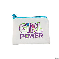 Girl Power Canvas Coin Purses