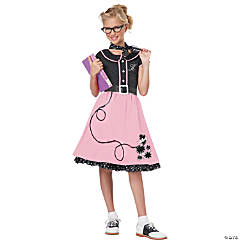 Girl's 50s Sweetheart Poodle Skirt Costume - Small