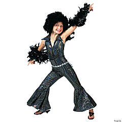 Girl's Boogie Disco Costume - Large