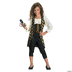 Girl's Classic Pirates of the Caribbean™ Angelica Costume - Small