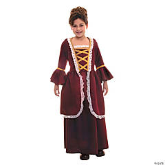 Girl's Colonial Dress Costume - Large