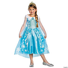 Girl's Deluxe Disney's Frozen™ Elsa Costume - Large