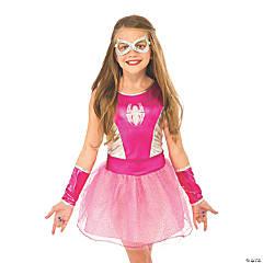 Girl's Economy Pink Tutu Spidergirl Costume - Small