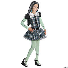 Girl's Edgy Monster High™ Frankie Stein Costume - Large