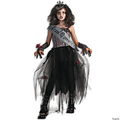 Girl's Goth Prom Queen Costume - Large