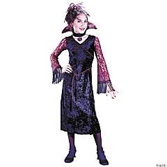 Girl's Gothic Lace Vampiress Costume