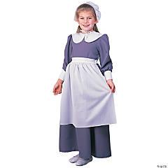 Girl's Gray Pilgrim Dress Costume - large