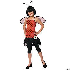 Girl's Love Bug Ladybug Costume - Large