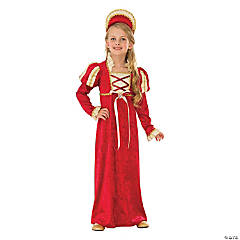 Girl's Medieval Princess Costume - Medium